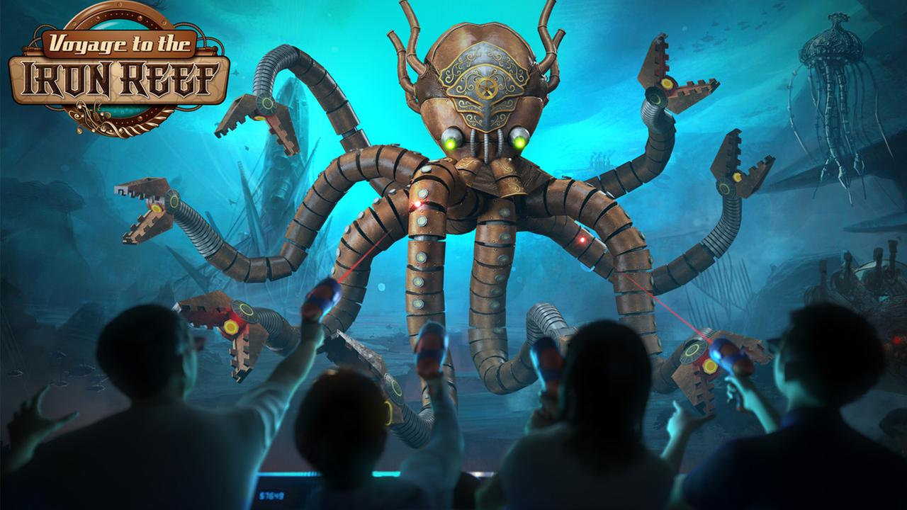 A scene from Knotts Berry Farms upcoming Voyage to the Iron Reef ride.