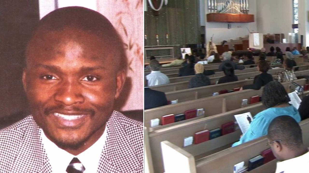 Charles Keunang, the homeless man who was fatally shot by police on Skid Row, was laid to rest at Holman United Methodist Church in Los Angeles Saturday, May 16, 2015.