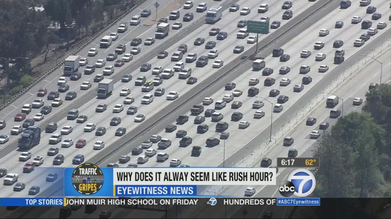 Rush hour will usually last longer than just an hour. Some commuters say it always feels like rush hour in Los Angeles.