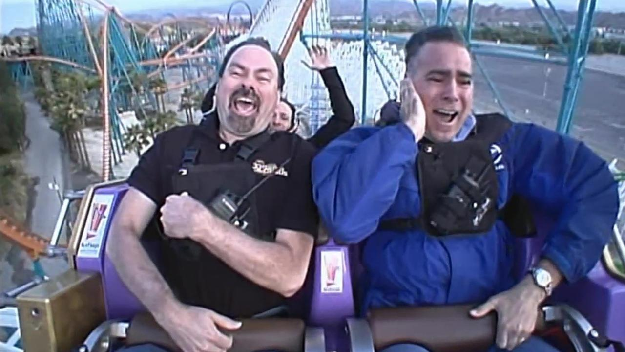 John Gregory gets a sneak peak of Six Flags newest ride, Twisted Colossus, built on the foundation of one of its classic roller coasters.