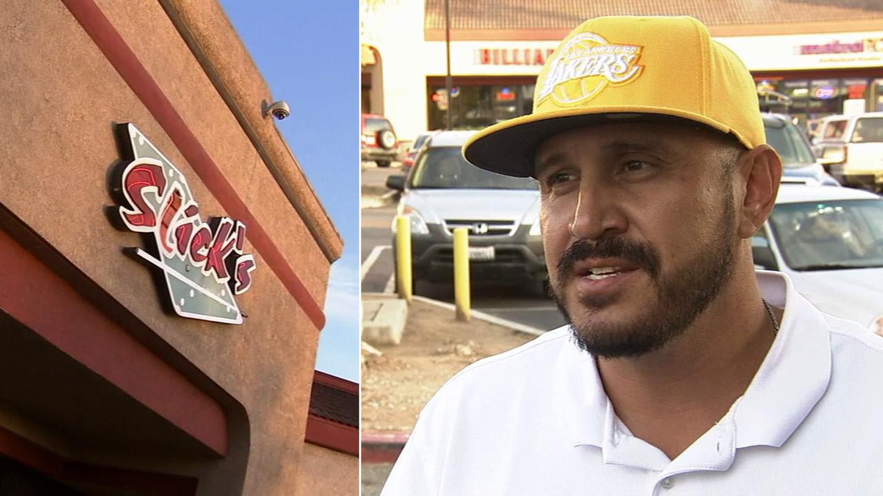 A former bouncer at Slicks in Norco says he was fired for dialing 911 and helping out a woman who had just been followed, assaulted and robbed of her purse and cellphone.