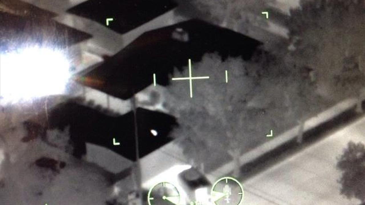 A home involved in a barricade situation is seen in this photo posted on the Los Angeles County Sheriffs Departments Special Enforcement Bureaus Twitter account.