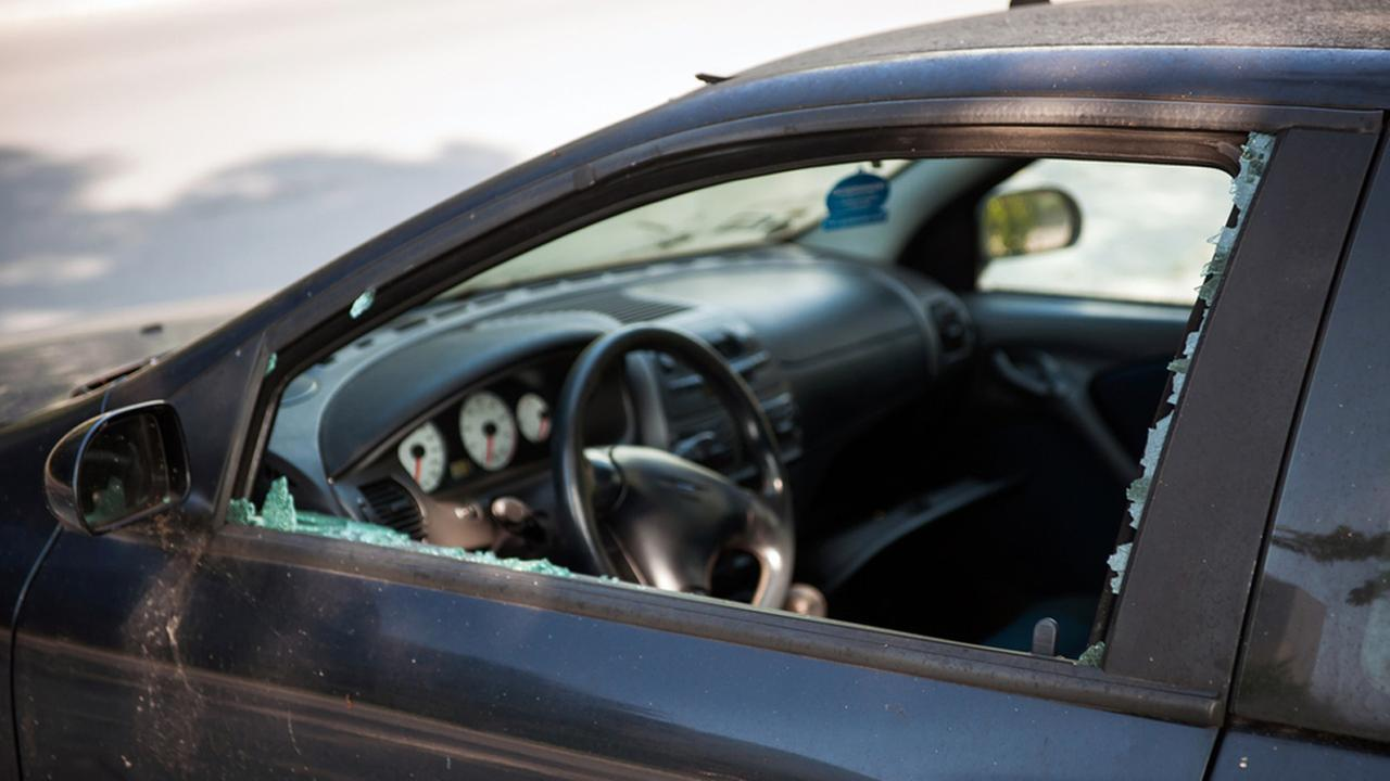 A shattered car window is seen in this undated file photo.