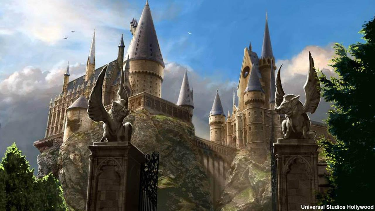 An artist rendering shows the Harry Potter and the Forbidden Journey ride at  The Wizarding World of Harry Potter, expected to open in spring 2016.