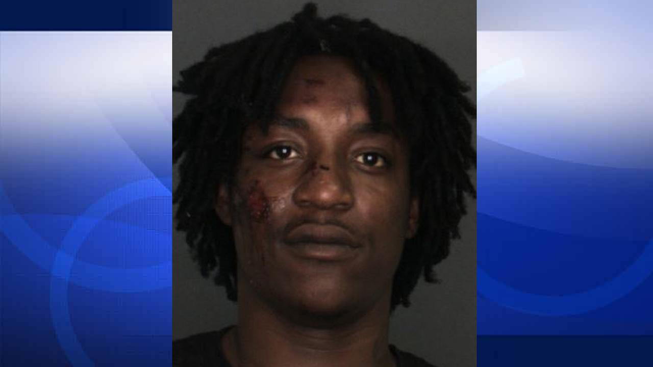 Donte Webb, 24, is shown in a booking photo provided by the Fontana Police Department.