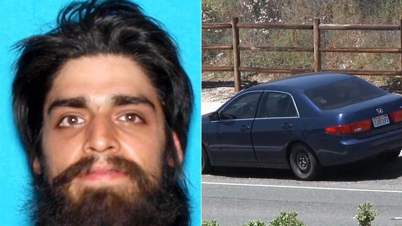 Jose David Flores body was found in the trunk of this blue Honda Accord in Canyon Country on Sunday, May 31, 2015.