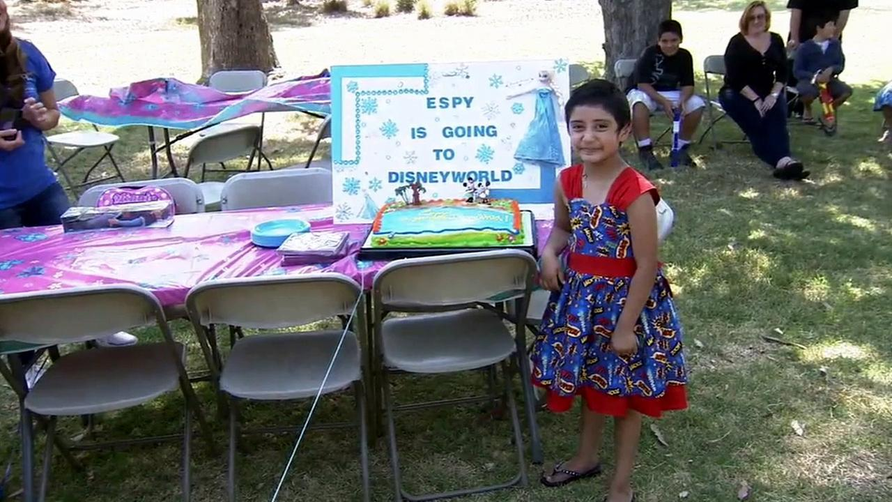 Esperanza Duran, 5, got her wish granted to go to Disney World after a special scavenger hunt on Saturday, June 6, 2015.