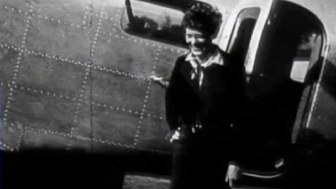 Rare footage has surfaced of Amelia Earhart at Burbanks Bob Hope Airport before she disappeared while trying to fly around the world.