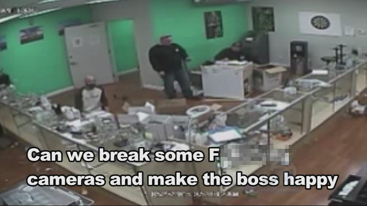 Santa Ana police officers were caught on surveillance video joking about kicking a wheelchair-bound amputee in her nub during a marijuana dispensary raid. The womans lawyer says hidden cameras also caught officers eating marijuana edibles.