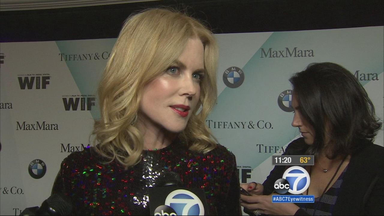 Nicole Kidman speaks with Eyewitness News at the annual Crystal + Lucy Awards in Century City on Tuesday, June 16, 2015.