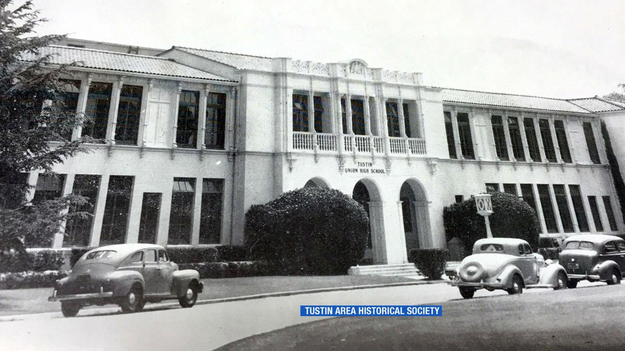 Tustin Union High School is shown in a photo from 1943.