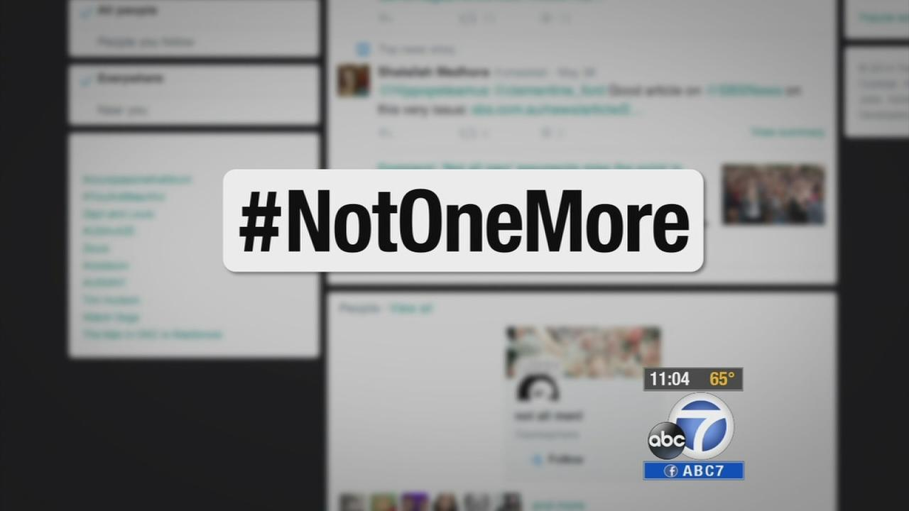 The hashtag #NotOneMore is one of several that came about following the Isla Vista massacre.
