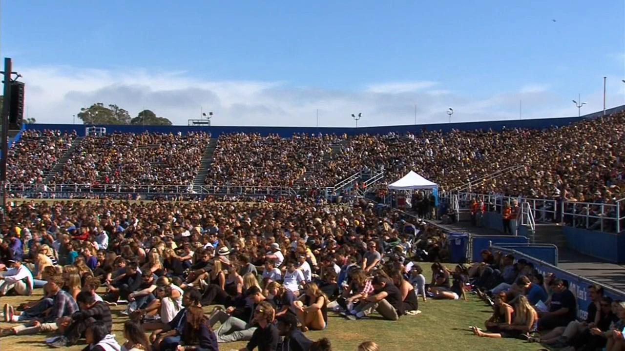 A memorial service was held Tuesday, May 27, 2014, for the victims of the Isla Vista massacre.