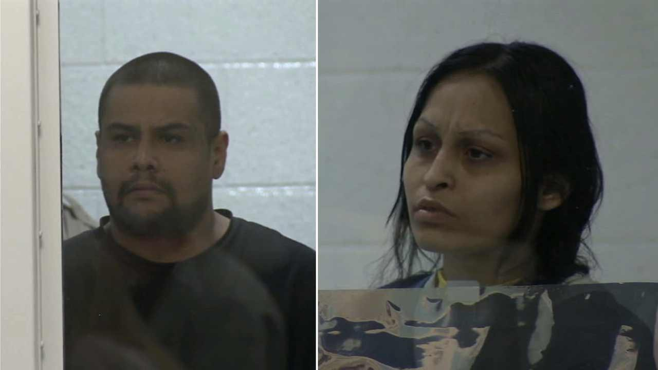 Isauro Aguirre (left) and Pearl Fernandez (right) appear in court in this undated file photo.