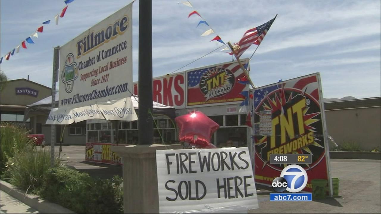 The Fillmore Chamber of Commerce has been selling safe and sane fireworks in the city for years.