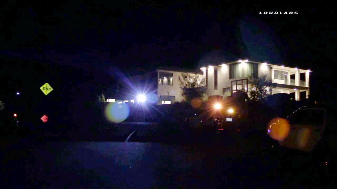 Armed suspects targeted singer Chris Browns home in Tarzana on Wednesday, July 15, 2015.