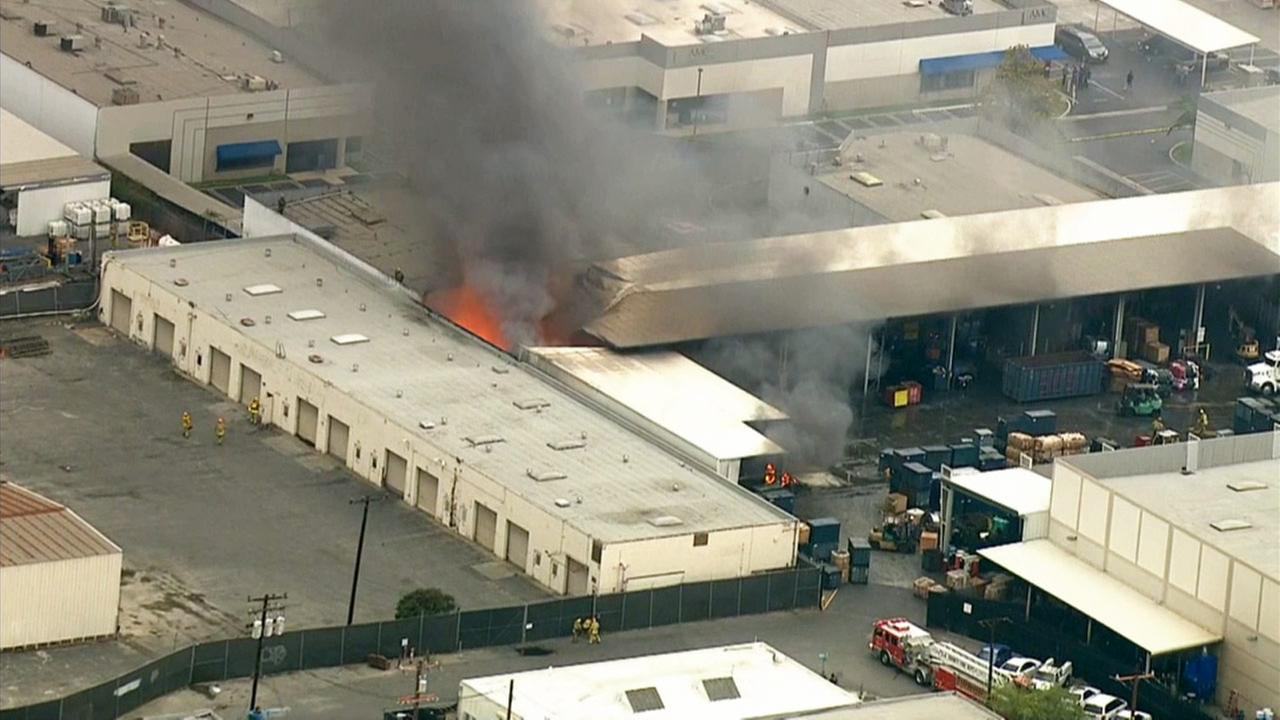 A structure fire involving metal shavings broke out in the 200 block of East Gardena Boulevard in Carson on Tuesday, July 21, 2015.
