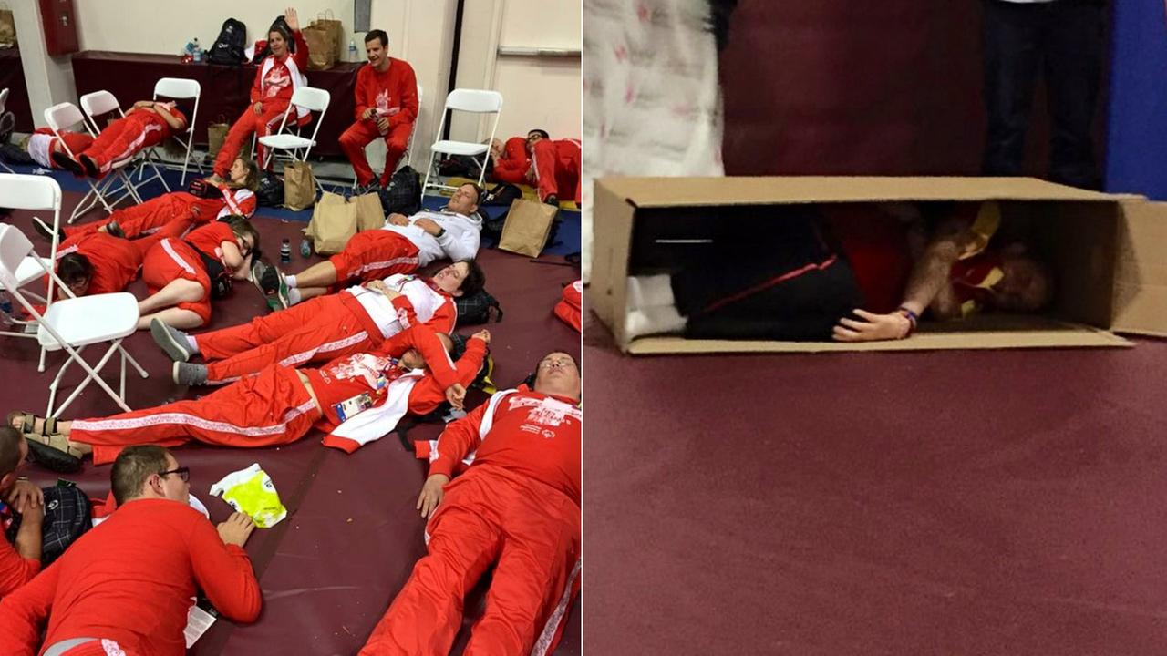 A Special Olympics logistics mess forced 1,500 to 2,000 people to sleep on the gym floor at Loyola Marymount University on Tuesday, July 22, 2015.
