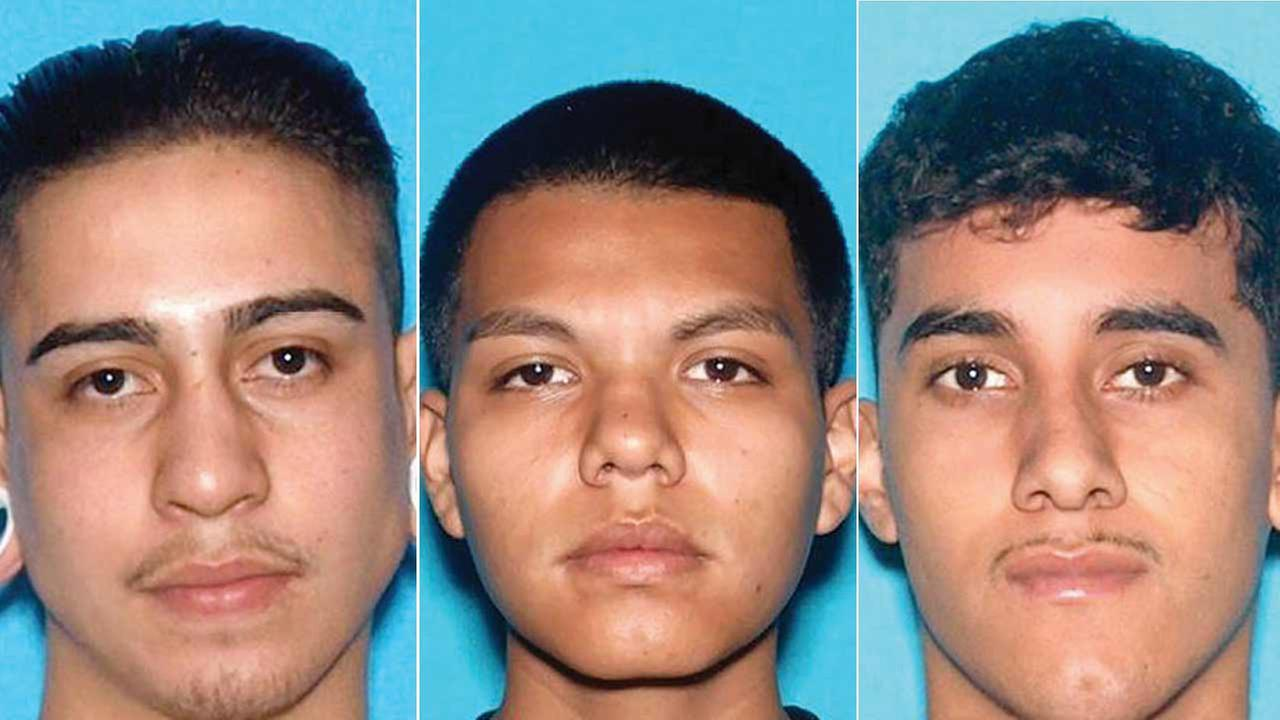 German Monrreal, 19, Mario Godina Jr., 19, and Estevan Manuel Castillo, 20, are seen in these photos provided by the Los Angeles County Sheriffs Department.