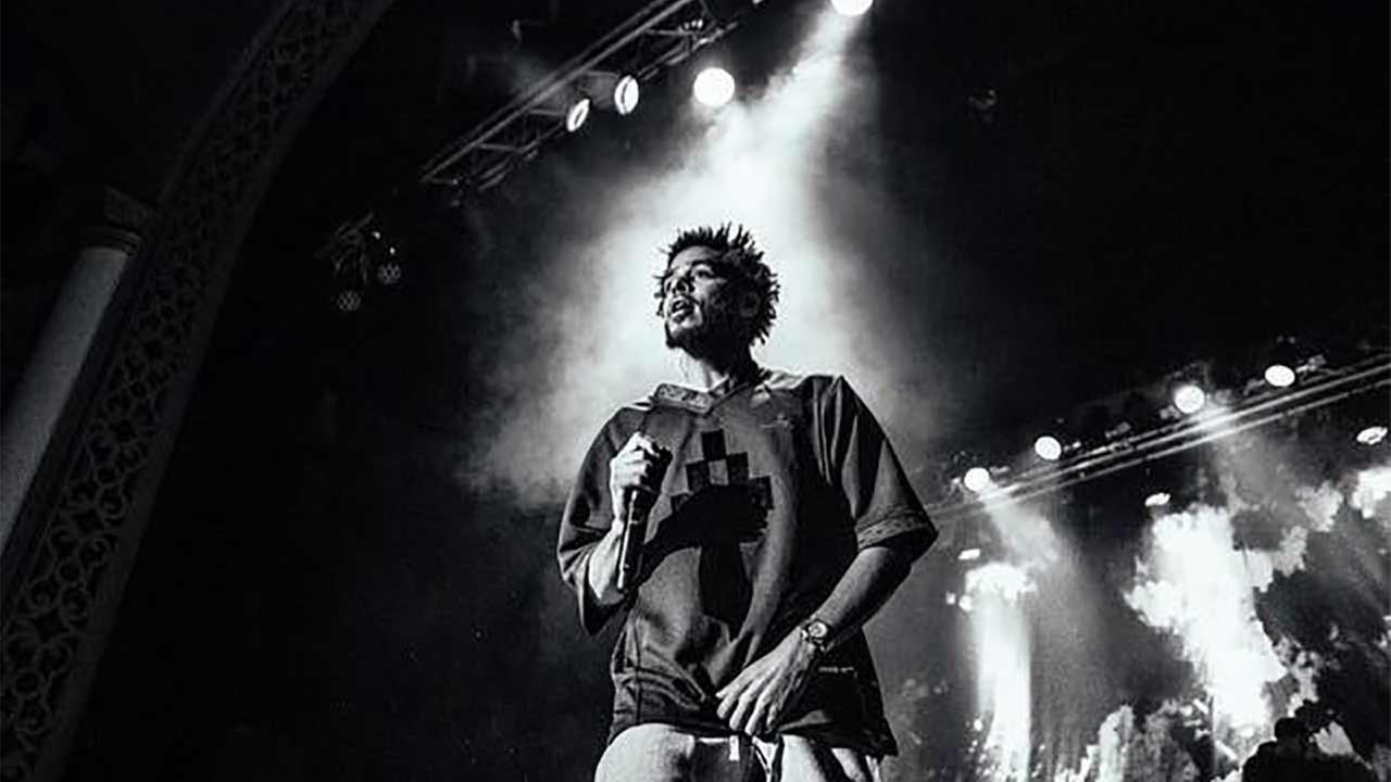 Rapper J.Cole is seen performing in this undated file photo.