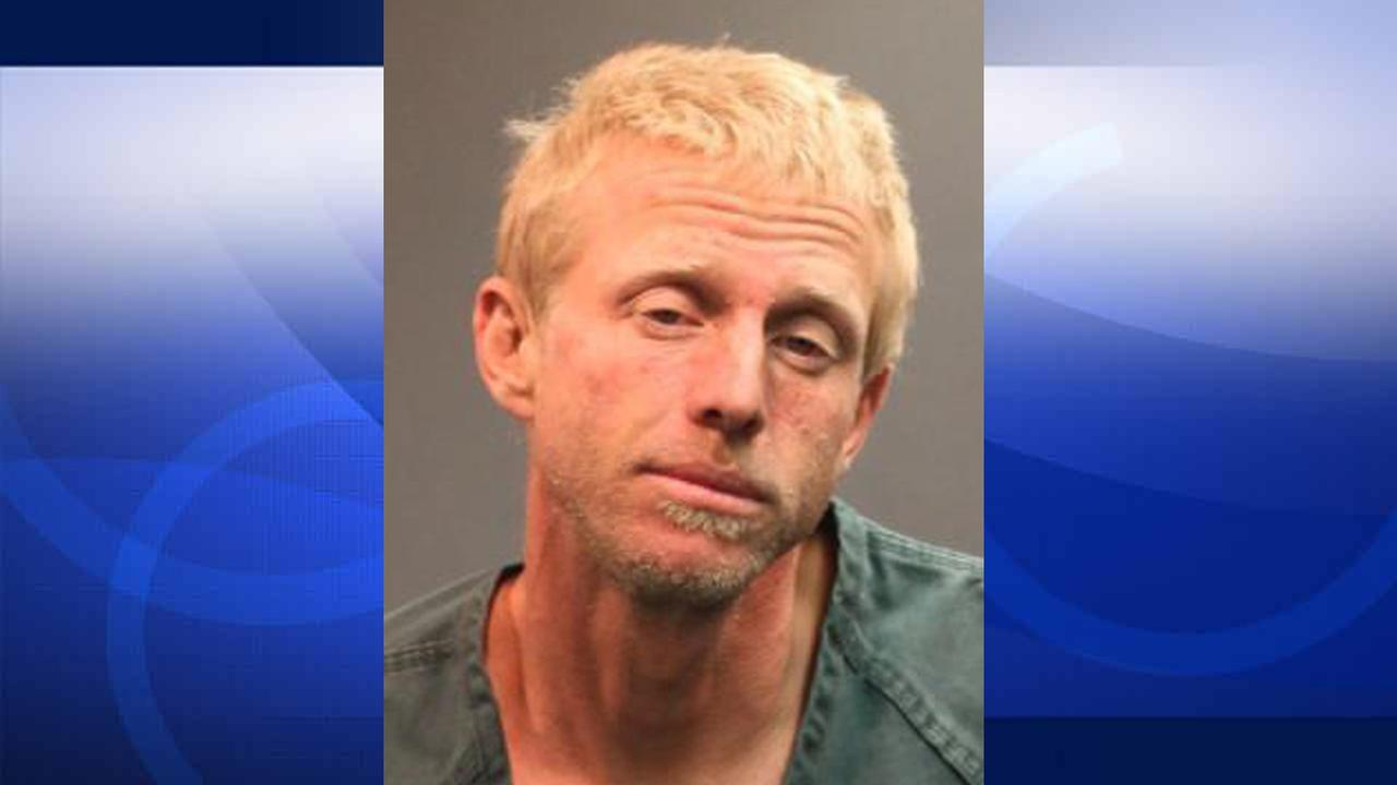 John William Rodenborn, 37, was arrested after police said he swung from trees and tried to get into the monkey exhibit at the Santa Ana Zoo on Tuesday, Aug. 4, 2015.