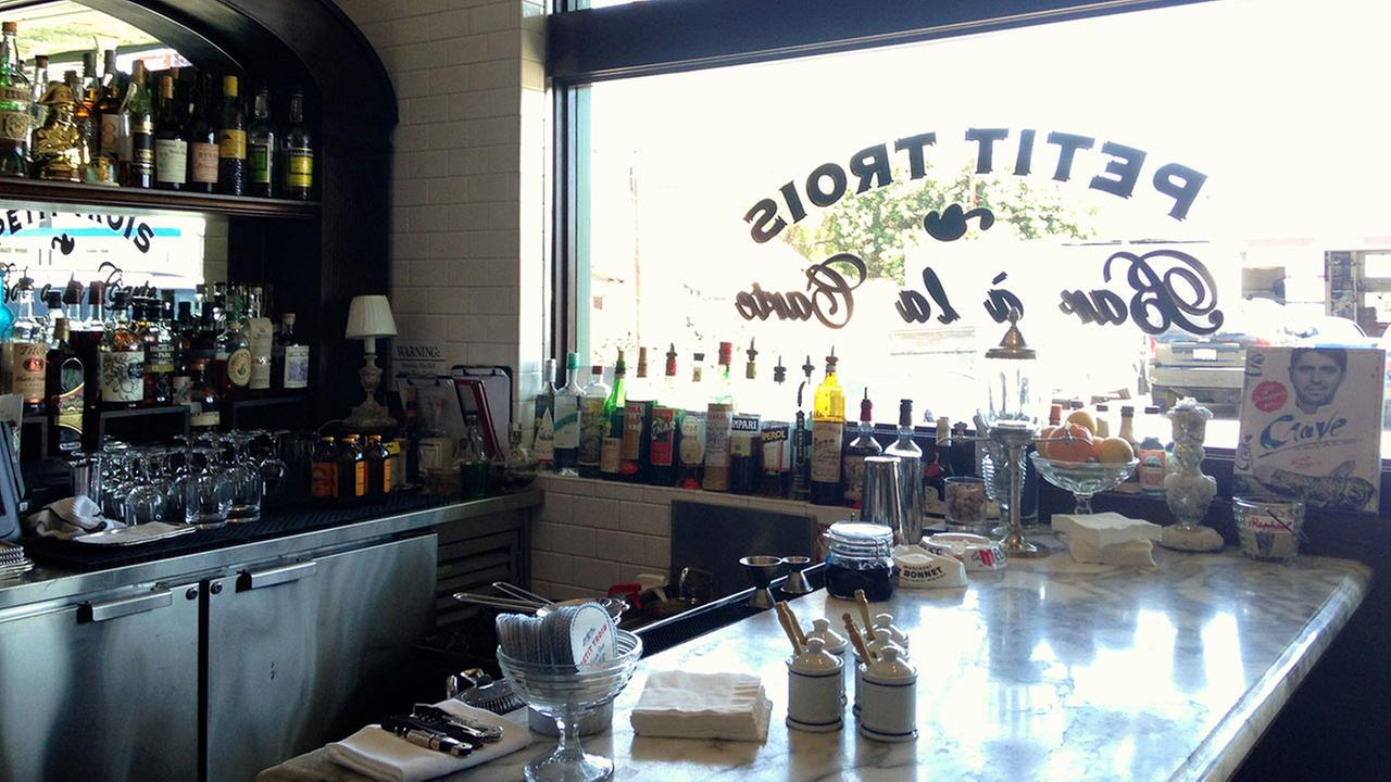 The Petit Trois bar area is seen in this handout photo.