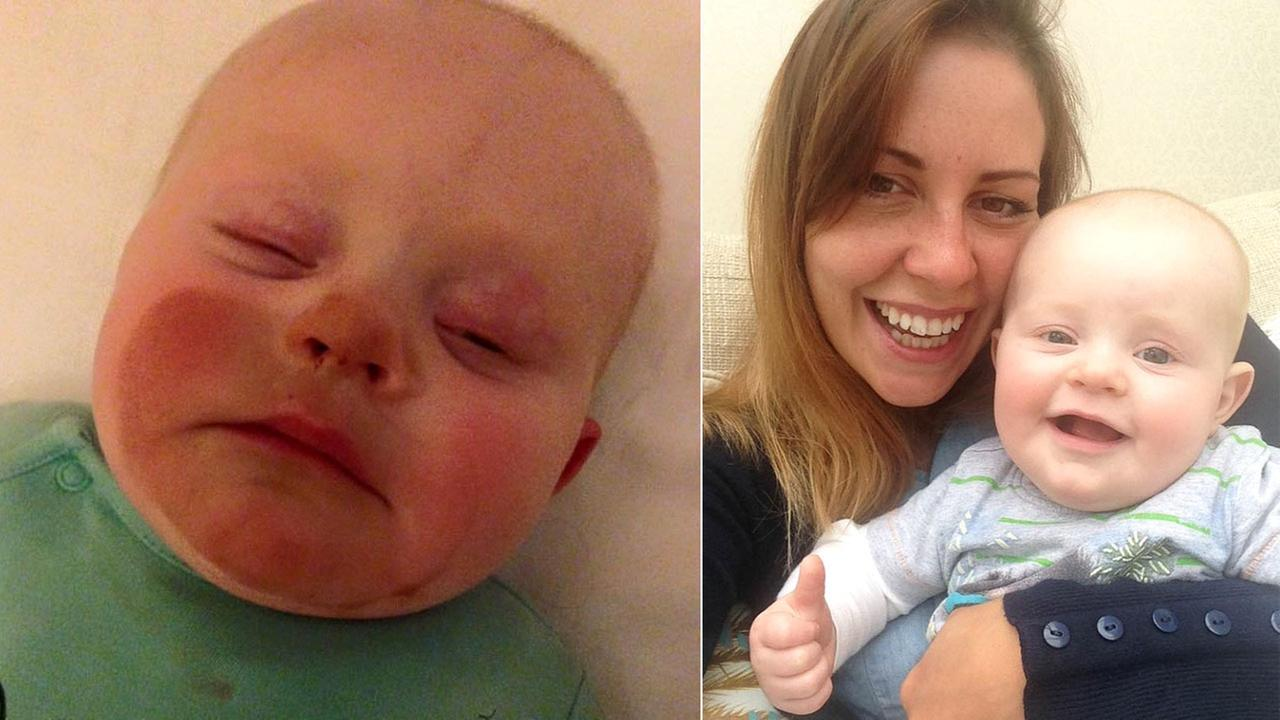 Gemma Colley shared these photos of her 7-month-old son.