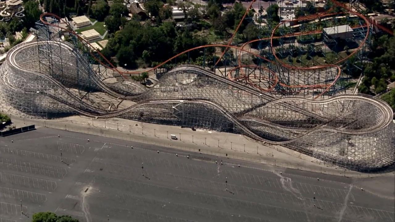 The Colossus ride at Six Flags Magic Mountain is seen in this undated file photo.