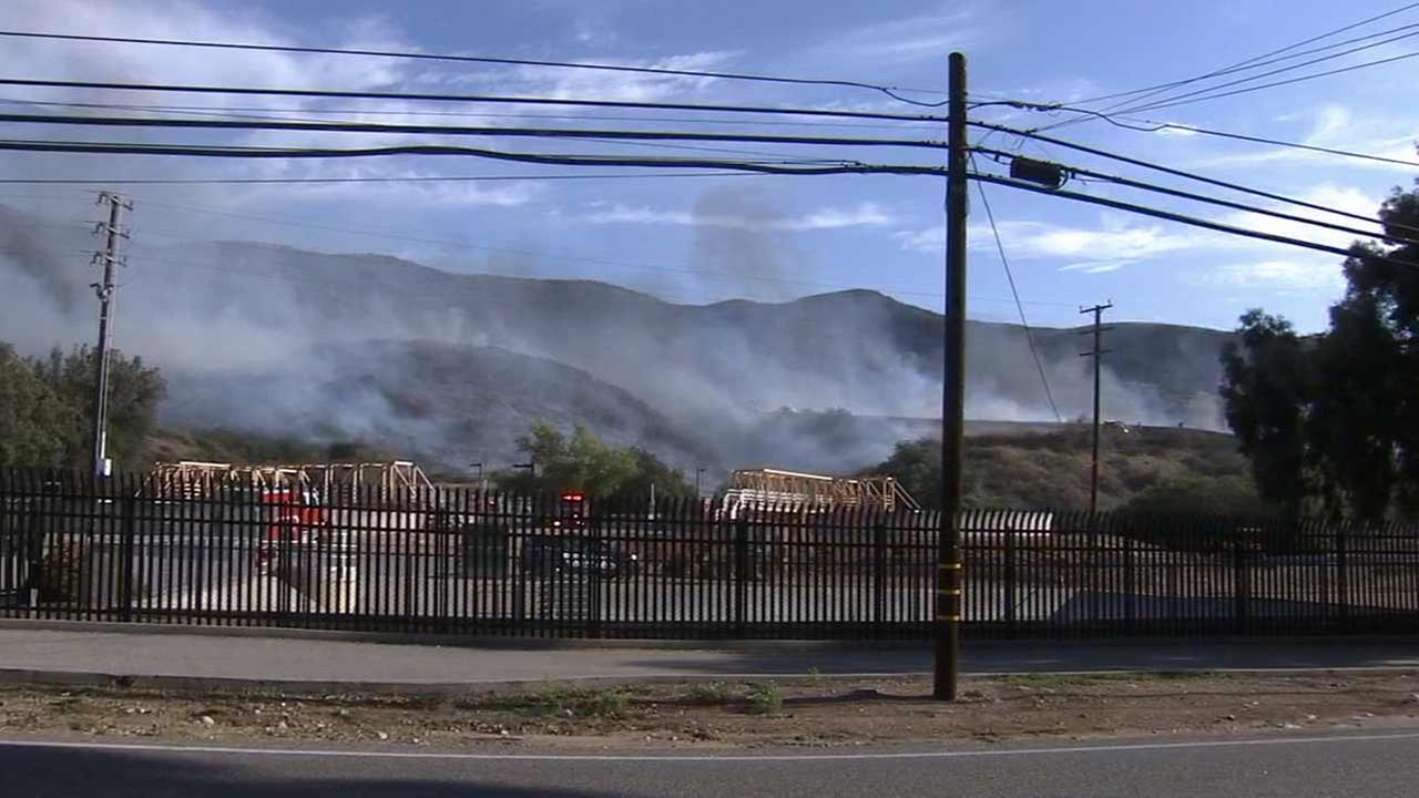 Cal Fire crews responded to a fire near the Mill Creek area and Highway 38 on Friday, Aug. 14, 2015.