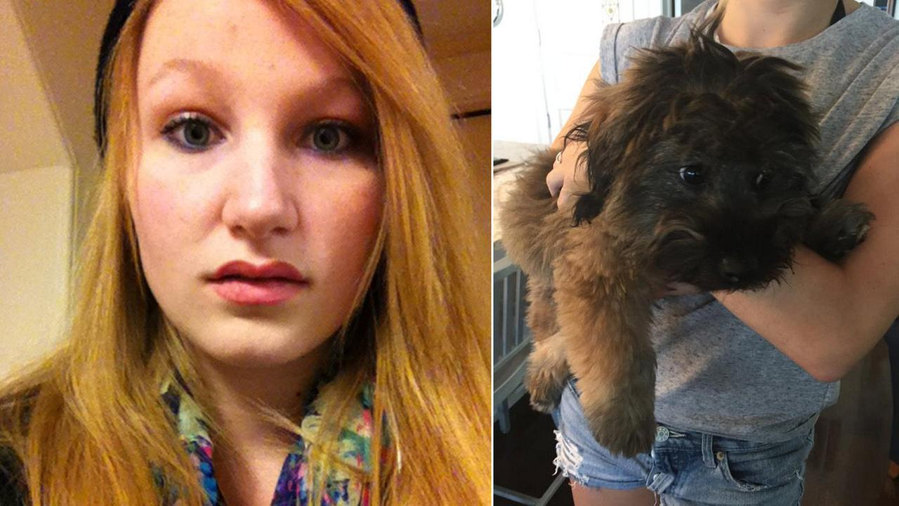 (L) Chelsea ODonnell is seen in this file photo. (R) Chelseas dog, named Bear, is seen in this photo posted on Rosie ODonnells Twitter page.