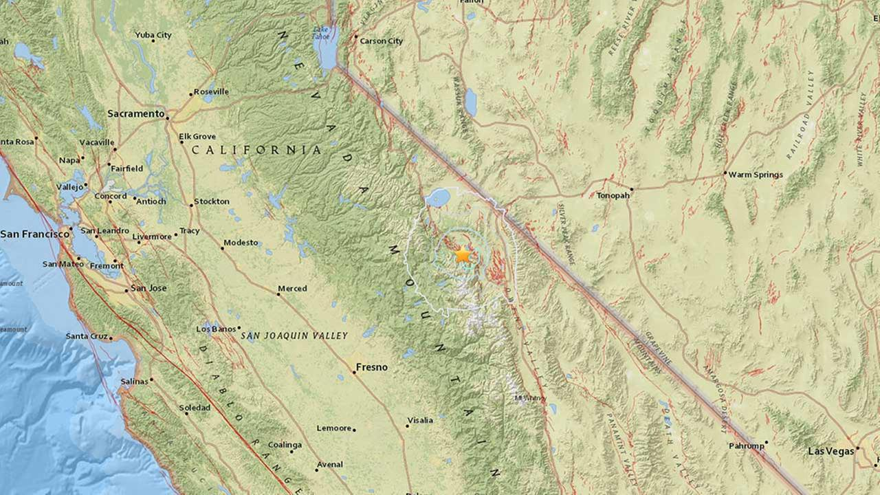 A 3.7-magnitude earthquake struck 11 miles east southeast of Mammoth Lakes on Saturday, Aug. 22, 2015.
