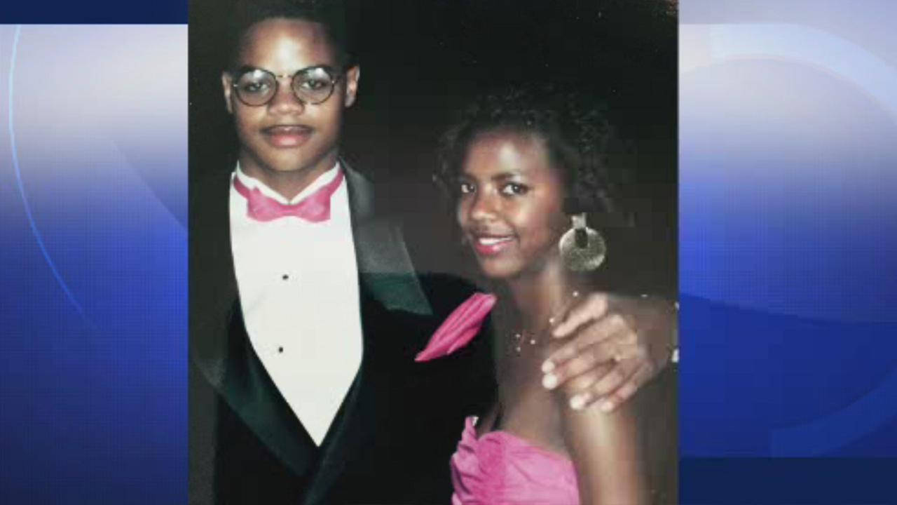 Lorah Joe of Burbank is pictured with Virginia news crew shooter Vester Flanagan in a junior prom photo.