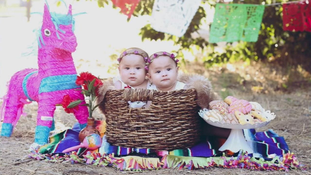 Orange County twins Kayla and Kiara Hernandez are shown in these undated portraits.