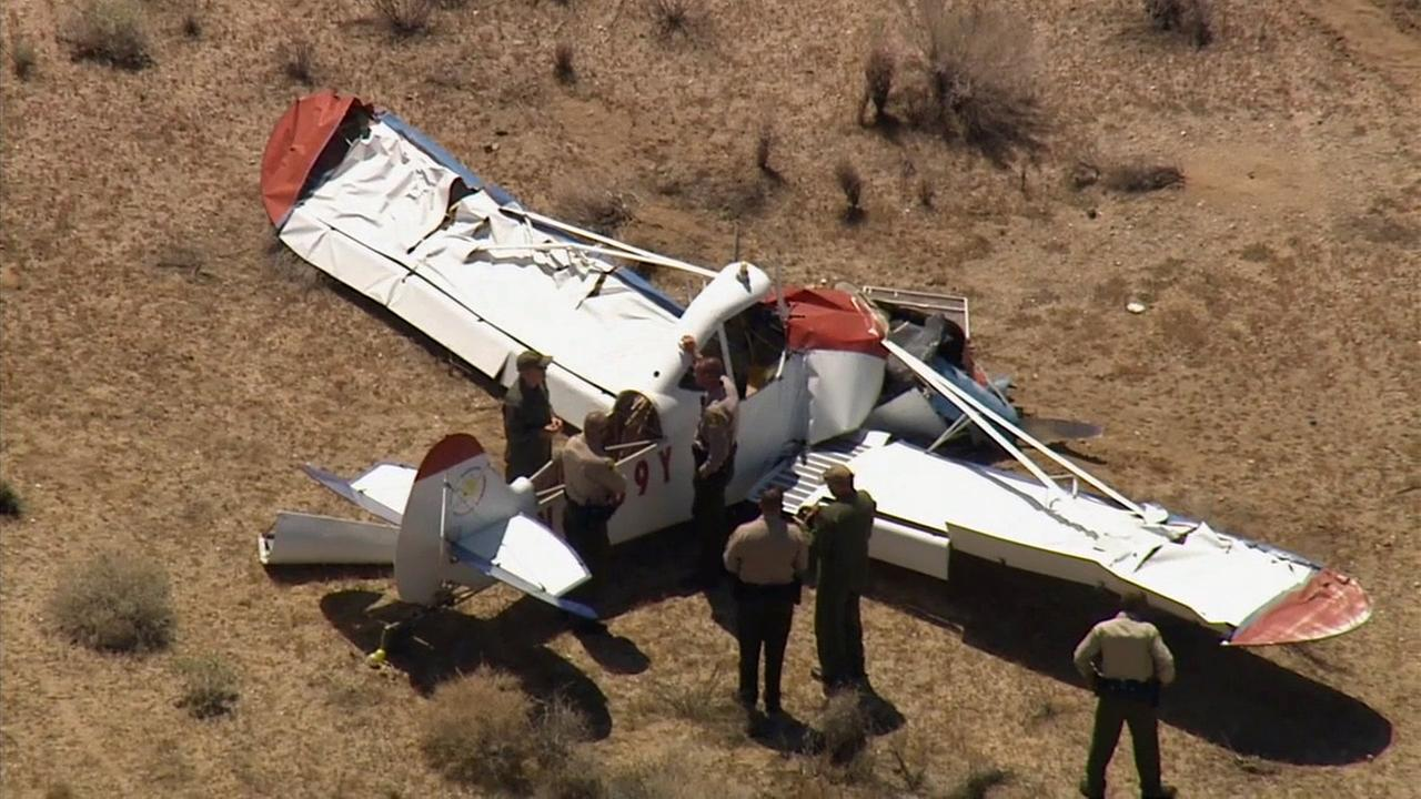 A small plane crashed north of Llano, killing at least one person, on Thursday, Aug. 27, 2015.
