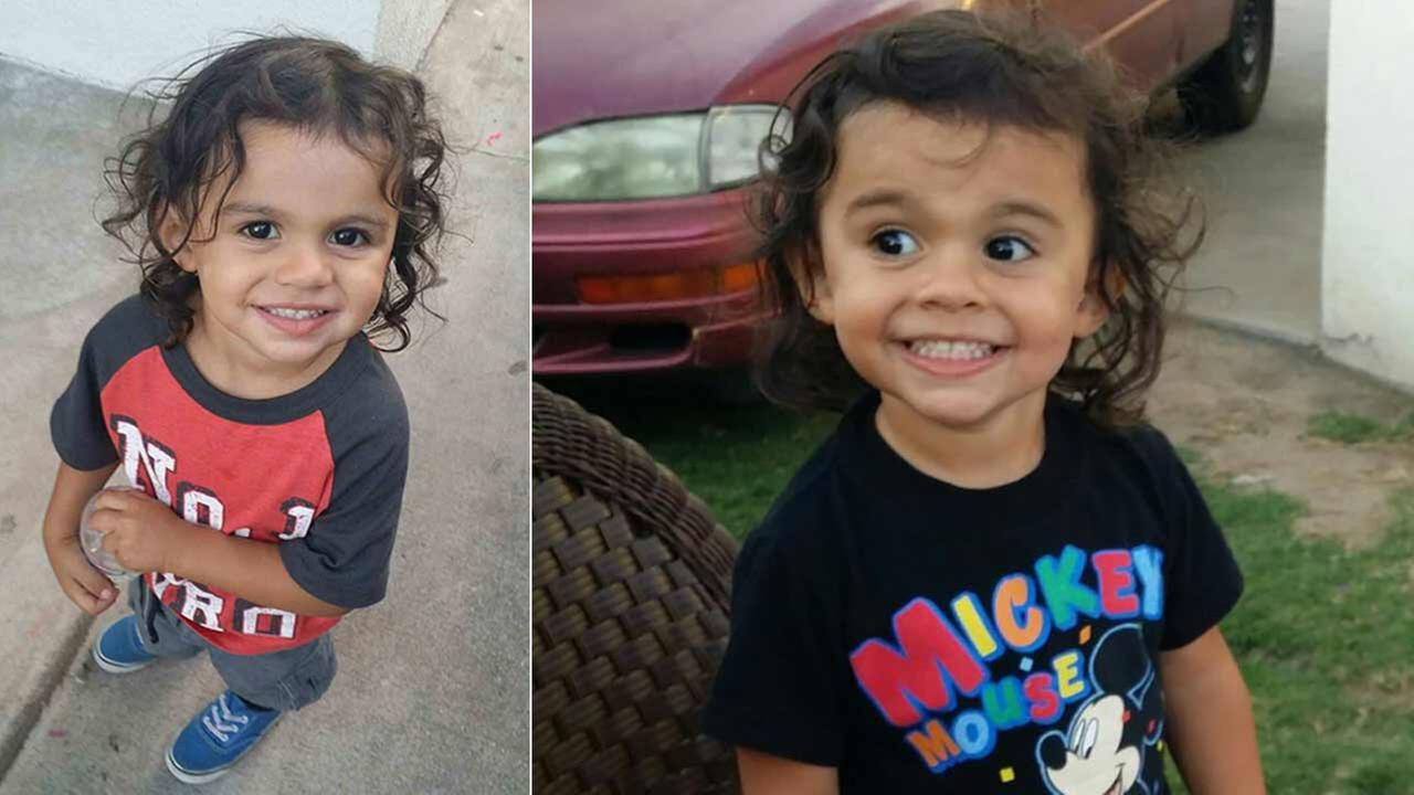 Jonathan Montes, 2, was struck by a hit-and-run driver near Perris Hill Road and Base Line Street in San Bernardino on Tuesday, Sept. 1, 2015.