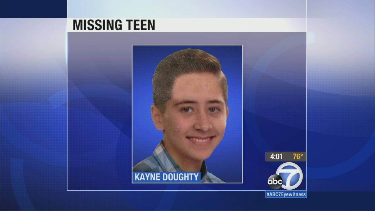 Kayne Doughty, 14, went missing in the Walnut area on Wednesday, Sept. 2, 2015.