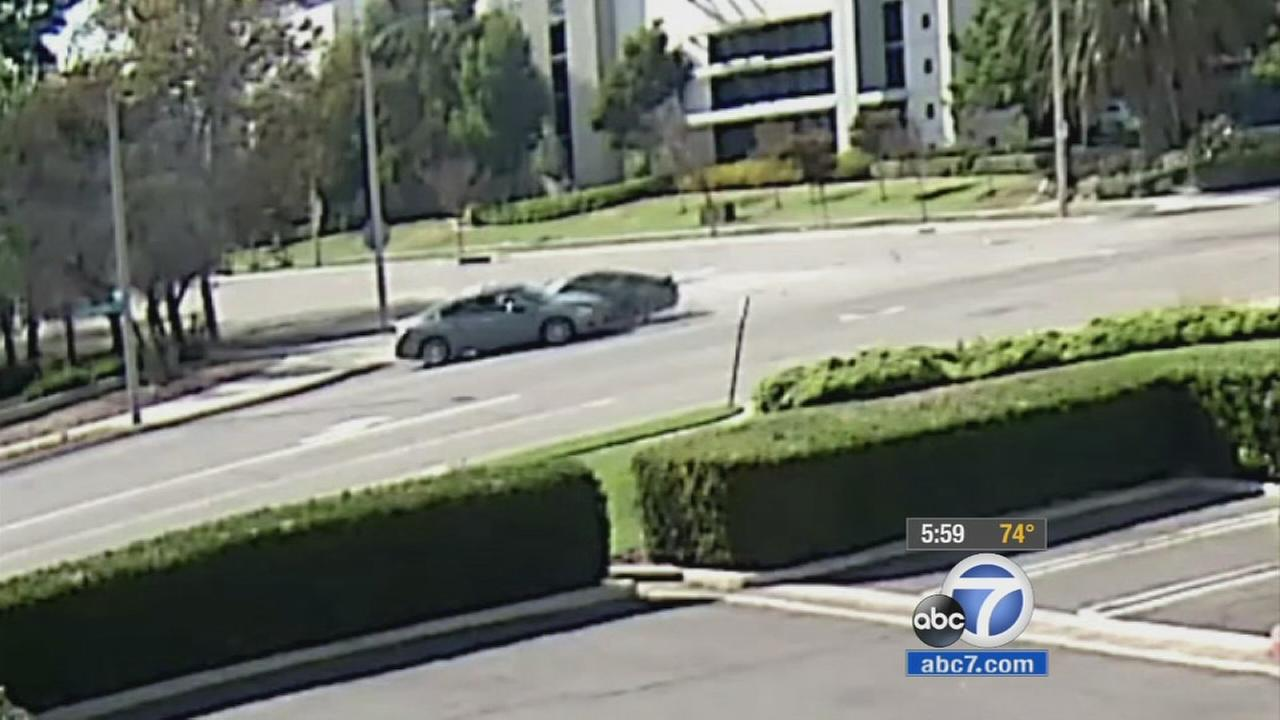 The driver of a black Ford Mustang is being sought in connection to a deadly street-racing crash near Rochester Avenue and Jersey Court in Rancho Cucamonga.