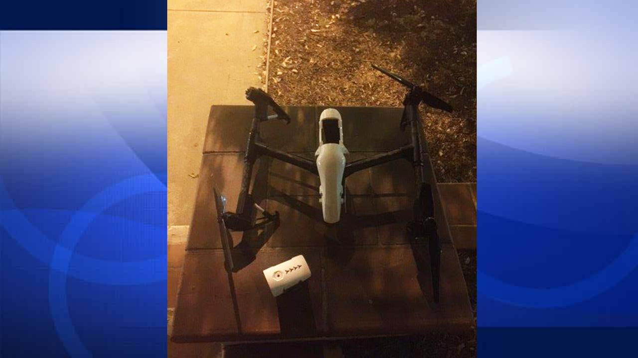 Pasadena Police Department released this photo of a drone that crashed and injured a baby in Pasadena on Saturday, Sept. 12, 2015.