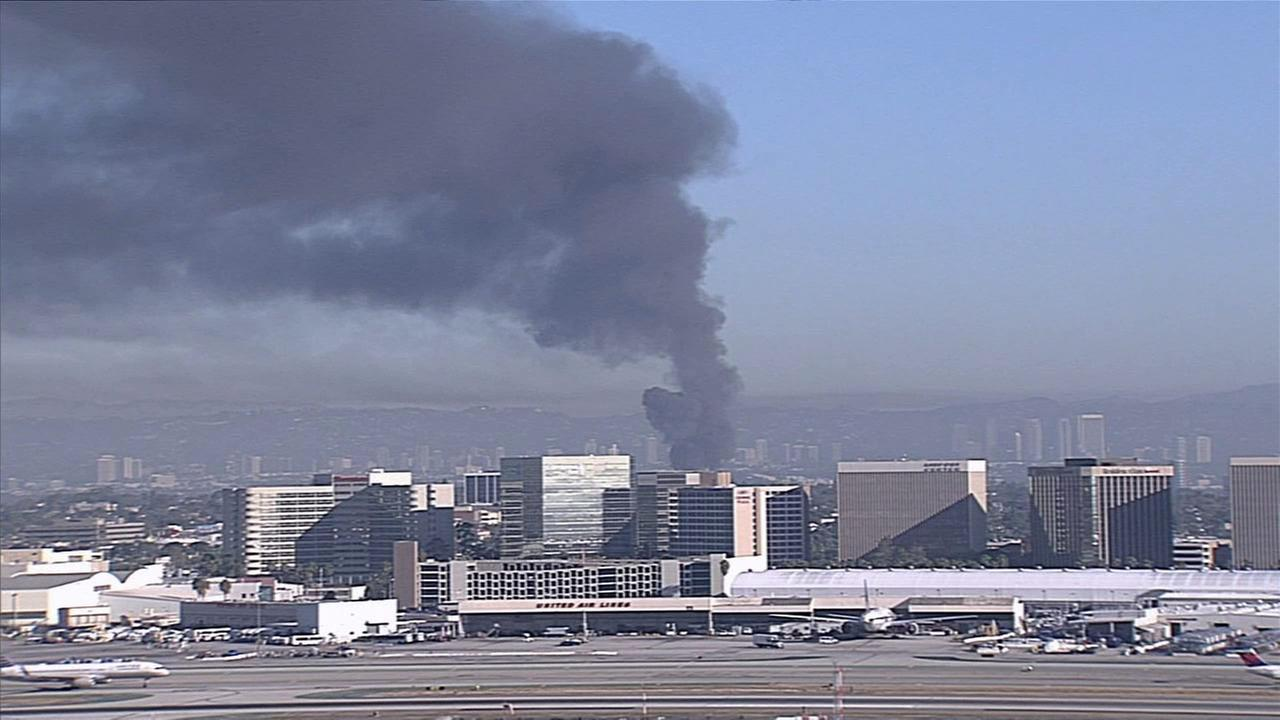 A commercial fire broke out Saturday, Sept. 19, 2015, in Playa Vista.