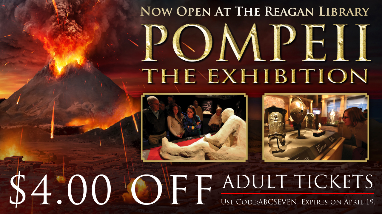 POMPEII: THE EXHIBITION is now open at the Ronald Reagan Presidential Library!