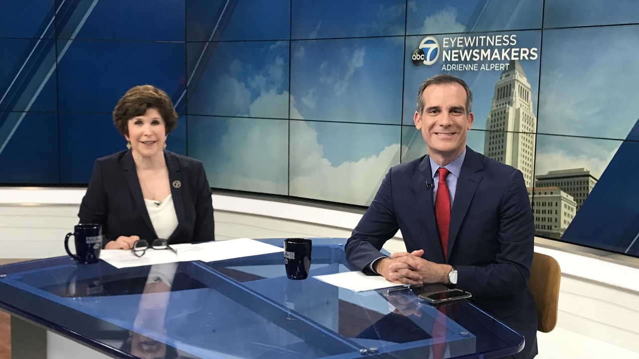 Los Angeles Mayor Eric Garcetti answered viewer questions on Eyewitness Newsmakers.