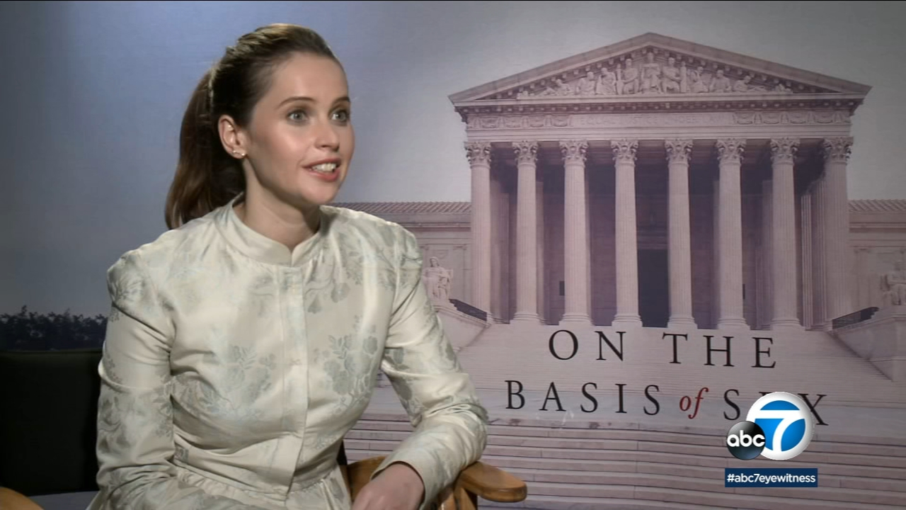 Felicity Jones transforms into Supreme Court Justice Ruth Bader Ginbsburg in On the Basis of Sex