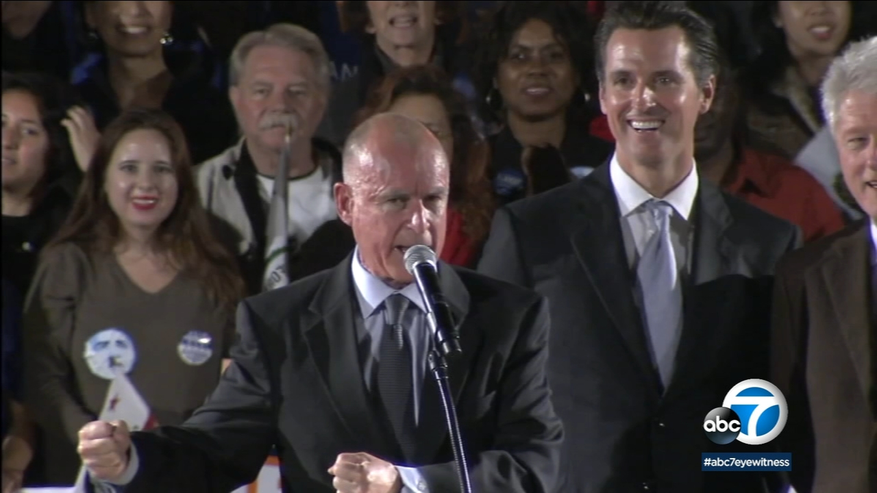 Gavin Newsom takes over as governor from Jerry Brown next week.