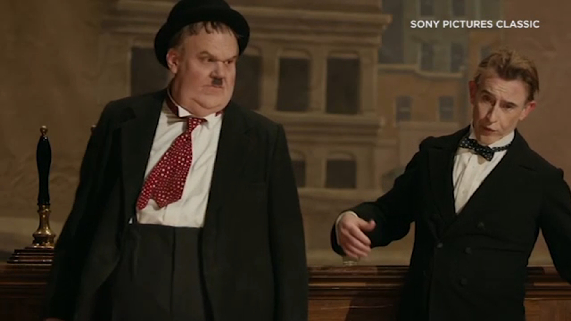 Actors John C. Reilly and Steve Coogan transform into classic comedy duo Laurel and Hardy in the new movie Stan and Ollie, thanks to top makeup wizards.