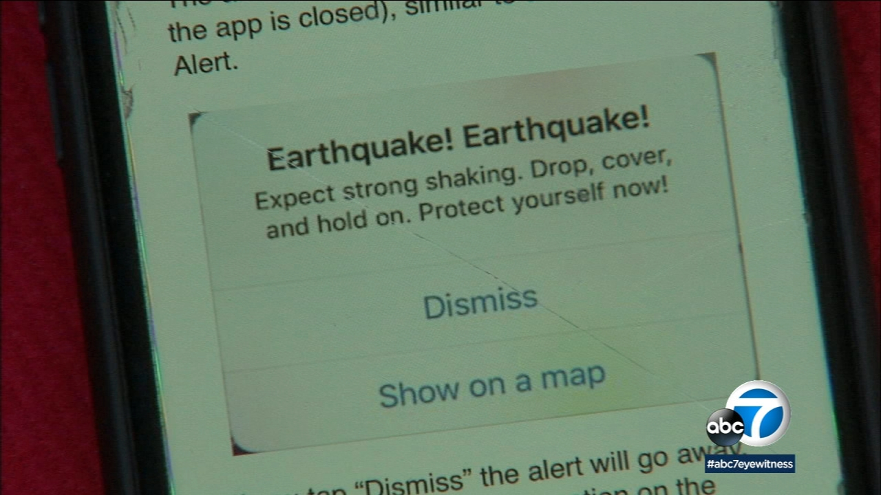 LA is launching an app to give advance warning before earthquakes, but Mayor Garcetti says funding for such programs is at risk.