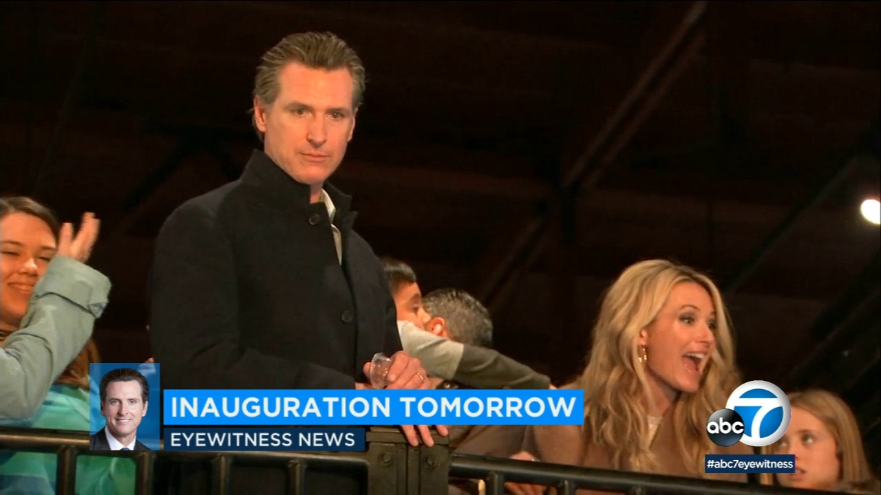 Gov.-elect Gavin Newsom is taking office Monday as Californias 40th governor amid a flurry of inaugural events.