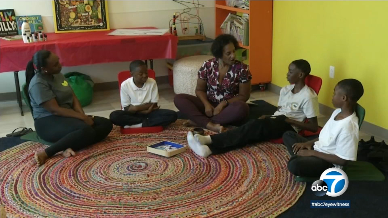 Mickel and Malachi King are learning deep breathing and meditation techniques to help them deal with toxic stress.