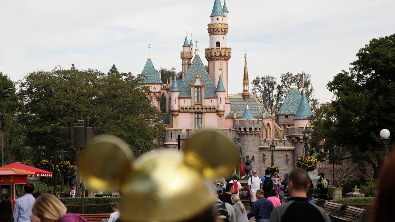 FILE - This Jan. 22, 2015 file photo shows Sleeping Beautys Castle at the Disneyland theme park in Anaheim, Calif.
