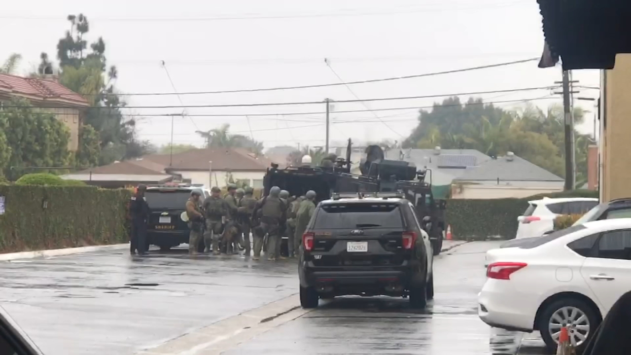 The Los Angeles County Sheriffs Department Special Enforcement Bureau responded to an armed, barricaded person at a Culver City hotel.
