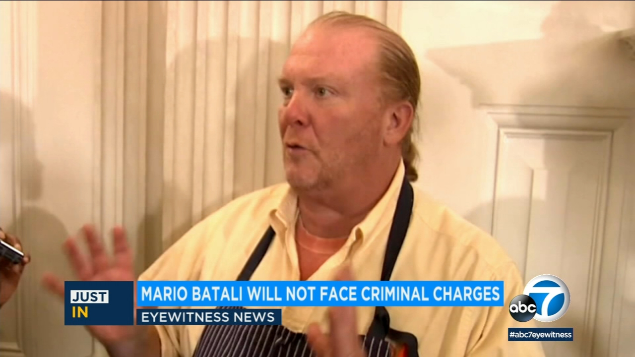 Mario Batali will not face criminal charges after the celebrity chef was accused of sexual assault by two different women, according to sources familiar with the case.